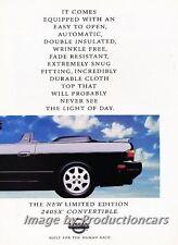 1992 Nissan 240SX 240-SX Convertible 2-page Advertisement Print Art Car Ad J755
