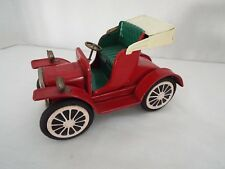 Vintage 1940 's/50's Red Model T Tin Friction Push & Go Toy Car
