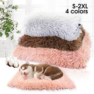 Pet Cat Dog Bed Sleeping Mat Washable Soft Plush Warm Cushion Pad Kennel Blanket