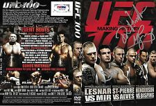 Frank Mir Dan Henderson Michael Bisping Mark Coleman Signed UFC 100 DVD PSA/DNA
