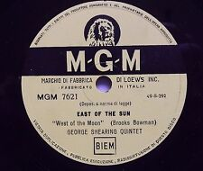 """78 rpm-10""""-GEORGE SHEARING QUINTET-THE CONTINENTAL/EAST OF THE SUN-"""