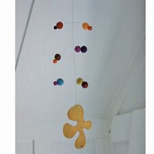Polka dot felt and ply sea sponge hanging mobile