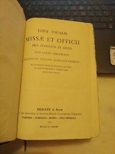 Liber usualis missæ et officii pro dominicis et festis cum cantu gregoriano 1956