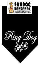 Ring Dog - Fun Dog Bandana Small - Black - 100% of SALE BENEFITS RESCUE