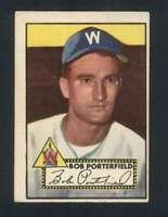 1952 Topps #301 Bob Porterfield VG/VGEX Senators 109566
