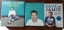 3 BOOKS - JAMIE OLIVER - EVERYDAY SUPER FOOD, SAVE, JAMIE'S KITCHEN (SGND) HBDW