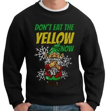 FUNNY CHRISTMAS JUMPER DON'T EAT YELLOW SNOW