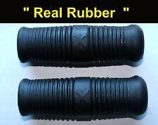 Henderson KJ & Super X Motorcycle Handle Bar Grip Set **REAL RUBBER**