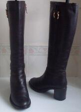 SALVATORE FERRAGAMO Designer Brown Gold Buckle Boots Size US 6 UK 3.5 EU 36.5