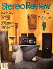 Stereo Review August 1989  European Audio, Making a CD Player, Pioneer, Dual