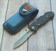 CRKT LAKE 111 Z LOCKBACK FOLDING KNIFE WITH POCKET CLIP & BLUE DENIM SHEATH