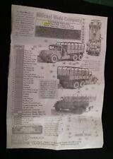Milicast US135 1/76 Resin WWII USA Mack NR8-13 10t GS Truck w/Full Tilt Cover