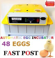 ACCURACY 48 Egg Incubator Fully Automatic Digital LED Turning Chicken Duck Eggs