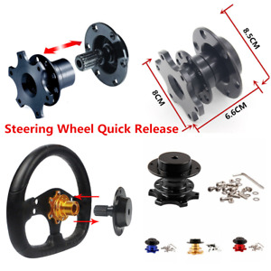 6 Hole Black Quick Release Hub Adapter Snap Off Boss Kits For Car Steering Wheel
