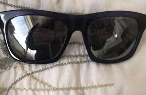 Genuine Blue/ Black Alexander McQueen Sunglasses With Case. Mirrored Lenses.
