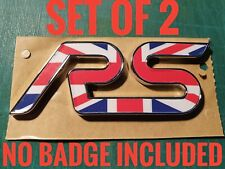 FOCUS RS OVERLAY BADGE INLAY MK2 MK3 UNION JACK BRITISH BRITAIN NO BADGE INC
