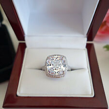 Certified 3.30CT Cushion-Cut Diamond Halo Engagement Ring in14K White Gold