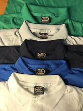 Lot of 5 Vintage Anvil Brand Polo T-shirt Deadstock Small 50/50 Single Stitch S