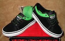 NEW VANS MILO SKATEBOARDING SHOE BLACK/GREEN YOUTH SZ 2.5