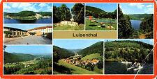 DDR Sonderformat-AK Luisenthal b. Gotha ua. Ohra-Talsperre, Bad, Gaststätte 1985