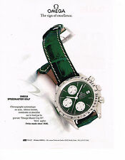 PUBLICITE ADVERTISING  1993   OMEGA  montre SPEEDMASTER GOLF