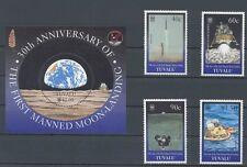 Tuvalu Mondlandung , Weltraum , Raumfahrt   Block + Satz komplett postfrisch **