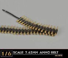 1/6th Scale 7.62mm Metal Machine Gun Bullet Chains Weapon Model Accessories