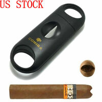 COHIBA Plastic V Cut Stainless Steel Blade Cigar Cutter Scissor Buy 2 get 1 FREE
