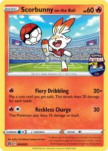 Pokémon TCG 004/005 Scorbunny On The Ball England Futsal Promo Card