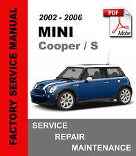 Mini Cooper / S / Convertible 2002 - 2006 Service Repair Maintenance Manual