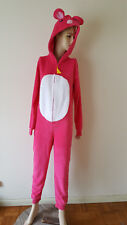 NWT Adult PJS Pajamas One-Piece Teen Mouse M JRS Pink Plush SO Intimates Cheese