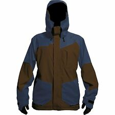 HOMESCHOOL Men WATERPROOF Ski SNOW Board JACKET Coat BROWN Blue MEDIUM size $240