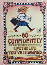 Mary Engelbreit Handmade Magnet-Go Confidently