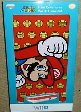 NINTENDO WII U OFFICIAL GAMEPAD PROTECTIVE HARD SCREEN COVER BRAND NEW Mario Red