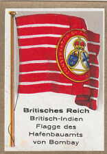DRAPEAU British Empire britannique India Port Authority Bombay FLAG CARD 30s