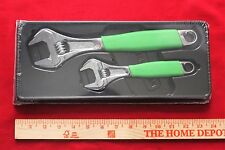Snap On FADH702 Adjustable Wrench Set 4pc Green Flank Drive  Cushion Grips New!
