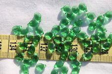 5x7mm Pip Preciosa Czech Glass Beads # 284 Trans Christmas Green 50pcs