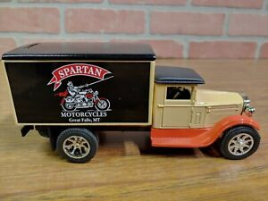 "ERTL JLE#GC-5105 1931 Freight Truck Bank ""Spartan Motorcycles"" Great Falls ID."