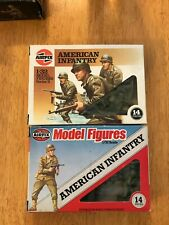 Vintage Airfix 1/32 Scale WWII American Infantry 2 14 figure boxes complete