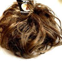 Hair scrunchie Wrap for Bun Updo Ponytail Large Messy Medium Brown Extension