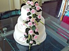 WEDDING CAKE SUGAR 18 TRAILING ROSES IN PALE PINK,MORE COLOURS AVAILABLE