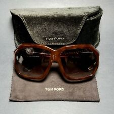 Tom Ford Elise TF266 52F Brown Sunglasses w/ Case & Cloth Italy
