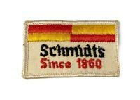 "Vintage Schmidt's Since 1860 Beer Embroidered 2 1/2""  Patch NOS"