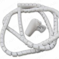 White Computer Cable Spiral Wraps