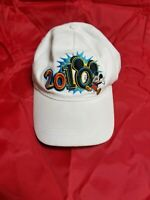 Walt Disney Mickey Mouse 2010 Hat White, Embroidered Mickey Logo multicolor