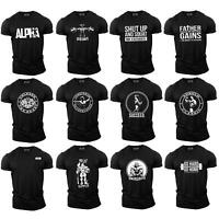 Bodybuilding Gym Motivation T-Shirt | Training Top Clothing MMA Mens Black UK