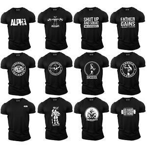 Bodybuilding Gym Motivation T-Shirt | Training Top Clothing MMA Mens Black UK