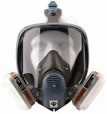 7pcs Suit Respirator Fully Facepiece Gas Full Mask for Painting Spraying 3M 6800