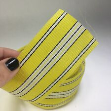 Outdoor Furniture Webbing Used Yellow W/ White and Black Stripes Retro