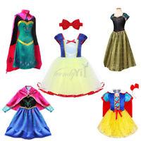 Christmas Girls Kid Princess Tutu Dress Up Party Fancy Costumes+Headband Cosplay